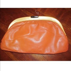 Brown Leather Bag Made In Italy